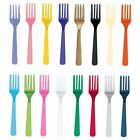 20 Plastic Forks - Washable Reusable Party Cutlery Tableware - Birthday Wedding