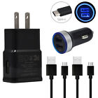 For LG Stylo 5 4 Plus V30 V40 V35 V50 ThinQ Fast USB Car Wall Charger Cable Cord
