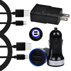 For Samsung Galaxy S10 S9 S8 Plus Moto G6 G7 Car Plug Wall Phone Charger C Cable