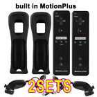 2* Built in Motion Plus Inside Remote Gesture Controller + Nunchuck For Wii U US