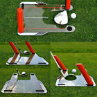 UK Pro Golf Swing Trainer Aid with Trap 4 Rods Hitting Practice Speed Trap Base