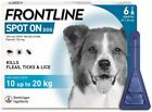 FRONTLINE SPOT ON Flea, Tick & Lice Treatment For S,M,L,XL Dogs & Cats (AVM-GSL) <br/> Available in 1, 3 or 6 pack - UK Seller - FREE P&P