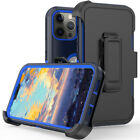 For iPhone 11/12 Pro Max XR XS Max Full Body Shockproof Kickstand Belt Clip Case