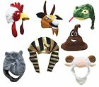 XMAS Halloween Party Animal Rooster Goat Sheep Snake Monkey Cow Warm Hat Costume