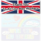 Thank you key workers 2ft 3ft 6ft PVC Banner - Stay safe in this together   NHS