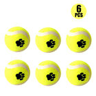 3/6 PCS Pet Mini Tennis Balls Small Dog Puppy Bite Mini Ball Teething Ball New