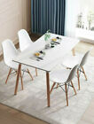 Wooden Dining Room Table Set 5 Piece 4 Chairs Kitchen Living Room Furniture