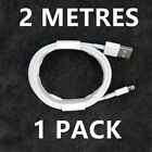 Apple Lightning To USB Cable 2M, iPhone Charger Cable 1M Charging Lead 7 8 6 XR