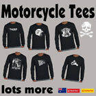 Funny Motorbike T-Shirts Biker Motorcycle Cafe Racer Mens t shirt Fathers Day $22.44 AUD on eBay