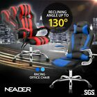 Adjustable Pu Leather Executive Reclining Racing Office Chair Computer Game Seat