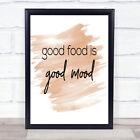 Good Food Quote Print Watercolour Wall Art