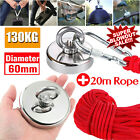 90-500kg Pull Salvage Strong Recovery Magnet Fishing Treasure Neodymium w/ Ropes