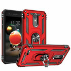 For LG Rebel 4 LTE (L212VL) Shockproof Stand Case Cover With HD Tempered Glass