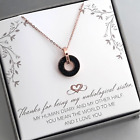 To My Unbiological Sister-Rose Gold Plated Stainless Steel Necklace-Message Card