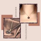 To My Unbiological Sister-Rose Gold Plated Stainless Steel Necklace-Message Card image