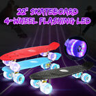 22'' Flashing LED Skateboard Complete Street Long Board Kids Penny Style Scooter image