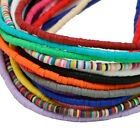 400pcs/strand Flat Disc Polymer Clay Loose Spacer Beads For Diy Jewelry Making