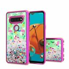 For LG K51 Water Glitter TPU Cover Case + Tempered Glass