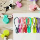 Magnetic Cable Clip Organizer Wire Cord Management Desktop Winder Line Holde New