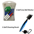 Golf Club Cleaning Brush with Ball Line Marker Stamp Cleaner Drawing Tools Set