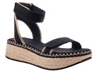 OTBT Reflector in Black Ankle Strap Wedge Sandal Women's sizes 6-10/NEW