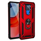 For Motorola Moto G7 Power / Supra Magnetic Stand Case+Full Cover Tempered Glass