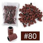 """100 x Sanding Bands 80"""" 120"""" 180"""" For Nail Art Pedicure File Grit Drill L0Z1"""
