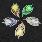 20*38mm Resin Leaf Shape Peacock Feathers Flatback Diy Accessories Craft L0z1