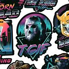80's Style Funny Movie And Tv Stickers - Choose Your Favorites - Retro Stickers
