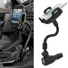 Dual 2 USB Ports Car Cigarette Lighter Charger Mount Holder For Cell Phone