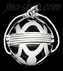 Sterling Silver Openwork Design Photo Ball Locket Pendant 2, 4, or 6 pictures