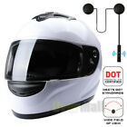 XL Full Face Motorcycle Street Bike Helmet with Extra Bluetooth Wireless Headset