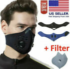 Reusable Face Mask + Activated Carbon Filter + Dual Air Breathing Valve Covers