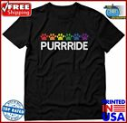 TeeStars  Purride Cat Paw Gay Pride Cat Lover Funny TShirt