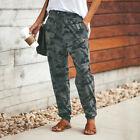 Womens Camo Cargo Pants Ladies Tracksuit Bottoms Jogging Gym Joggers Trousers UK