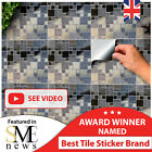 24 Gery Silver Chrome Kitchen Tile Stickers 15x15cm Tile Transfers 6x6 Decals Uk
