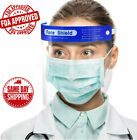 1 2 Pcs Safety Full Face Shield Reusable Washable Protection Cover Face Mask