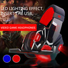 Gaming Headset Computer Game Led Headphones With Microphone Deep Bass Stereo