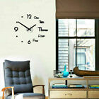 3D DIY Extra Large Roman Numerals Luxury Mirror Wall Sticker Clock Home Decor y