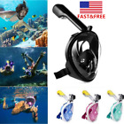 Full Face Swimming Snorkle Mask 180° Diving Scuba Mask For Go Pro Adult Kids