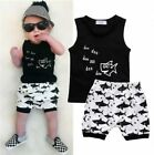 2PCS Infant Kid Baby Boys Cartoon T-shirt Tops Shorts Summer Outfits Set Clothes