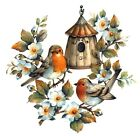 Rustic Birdhouse Birds Flowers Select-A-Size Waterslide Ceramic Decals Bx image