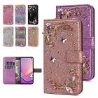 For Samsung Galaxy A10e A20e Bling Butterfly Card Wallet Flip Leather Case Cover