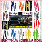 Auto Reflective Car Headlight Monster Stickers Scratch Stripe Claw Vinyl Decals
