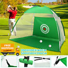 ❤ 2M/3M Golf Practice Hitting Net Indoor/Outdoor with Portable Carry Bag AU