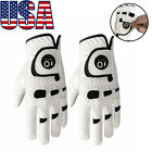 Men's Golf Glove Left Hand Right with Ball Marker Value 2 Pack Waterproof