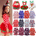 Toddler Kid Baby Girl Christmas Santa Tutus Dresses Party Festival Long Dresses