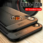 For iPhone 6s 7 8Plus 11 12Pro Max XS MAX XR XS TPU Soft Ultra Leather Back Case