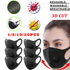 1-20X Sponge Washable Face Shield Breathable Soft Mouth Cover Outdoor Unisex