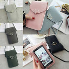 Women Pu Leather Wallet Purse Coin Cell Phone Mini Crossbody Shoulder Bag